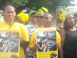 ANC Youth League Women Protest