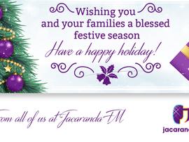 Jacaranda festive wishes 2015