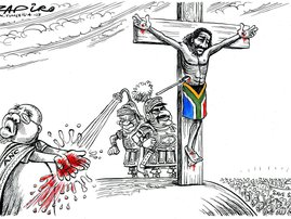Zapiro crucifixion cartoon