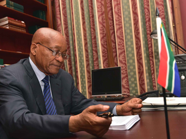 President Jacob Zuma in his office