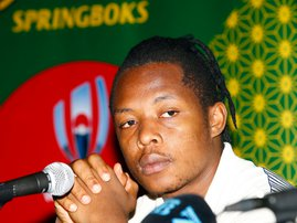 Sbu Nkosi at South Africa Springbok media conference / Steve Haag via Hollywoodbets
