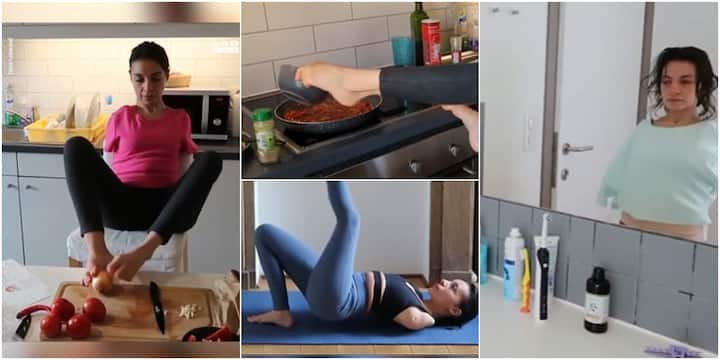 Never let anything get you down. Watch a woman with no arms do it all.