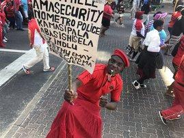 Abahlali BaseMjondolo march to Durban City Hall