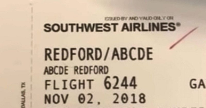A Passenger Named Abcde Tried To Board A Plane In America