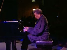 Abdullah Ibrahim playing the piano