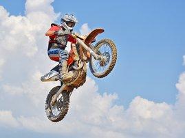 dirt bike blue sky