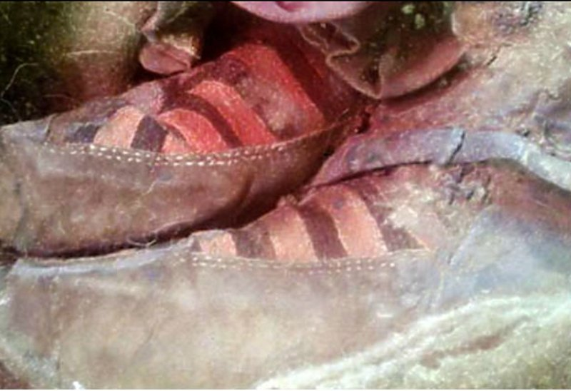 1500-year-old Adidas sneakers proof of time travel?