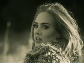 "Adele in the video for ""Hello"""
