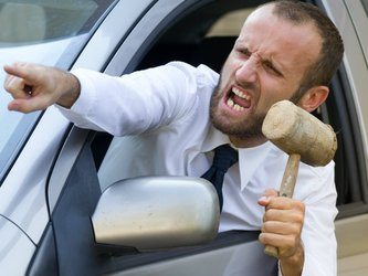 road rage with going in with a gavel