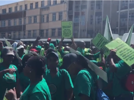 AMCU members march against massive job cuts