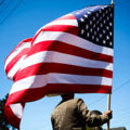 American Flag as Elections underway |
