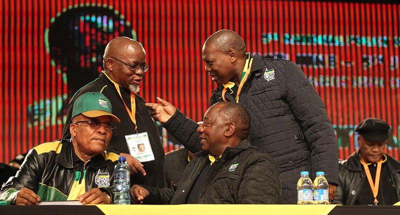 Jacob Zuma Cyril Ramaphosa Gwede Mantashe_ddw