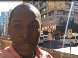 Samkele Maseko outside Luthuli House