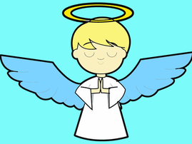cartoon angel boy for announcing Saint West - Kim and Kanye's new baby