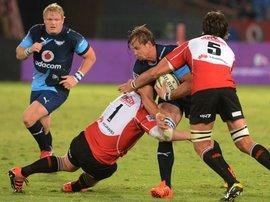 Arno Botha being tackled