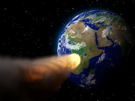 A large asteroid expected to hit the earth soon!