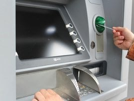 Withdrawing money from ATM