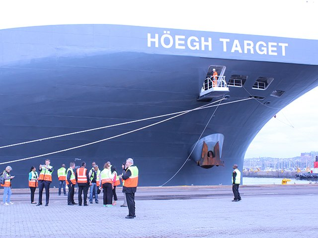 World's largest car, truck carrier docks at Durban