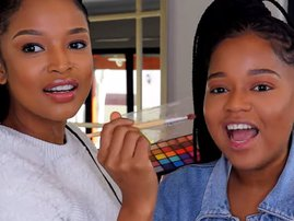 Ayanda Thabethe and her sister Lungile