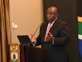 Cyril M Ramaphosa on student burning campuses