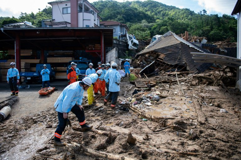 Japan clean up operations following floods