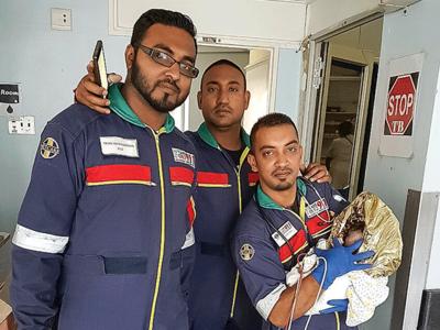 paramedics rescue newborn baby found abandoned in durban cbd