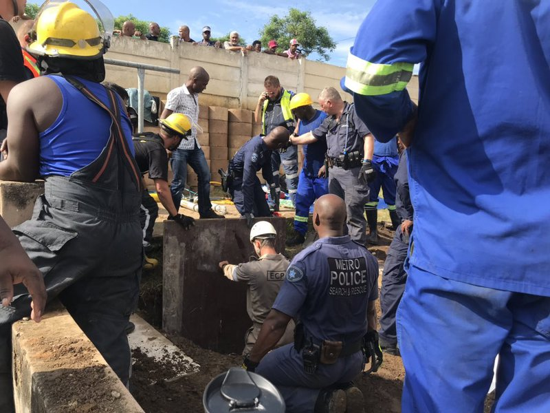Baby rescued from storm drain in Newlands East