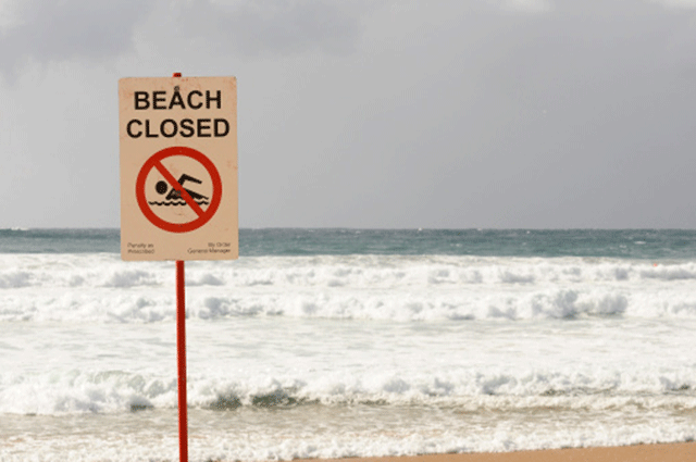 eThekwini and the Country Club beaches closed