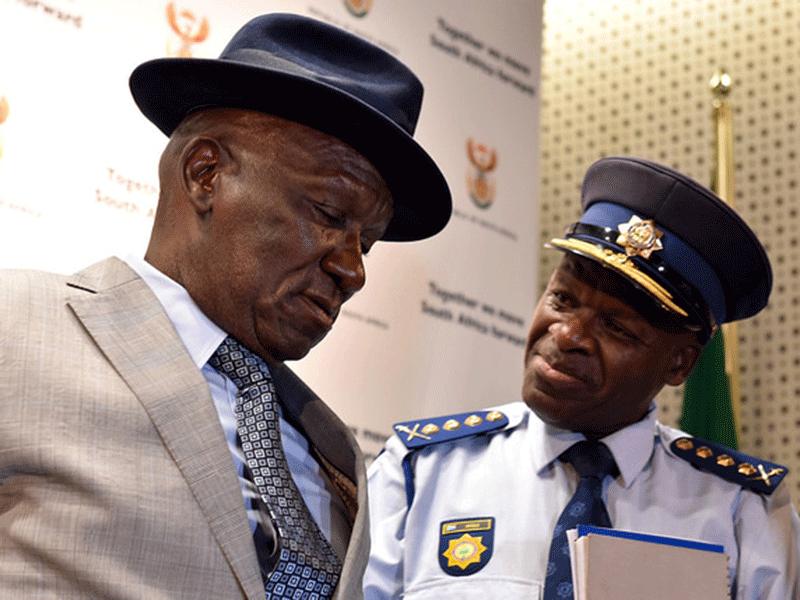 Police Minister, Bheki Cele