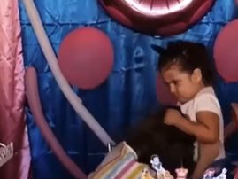 A 3-year-old birthday party