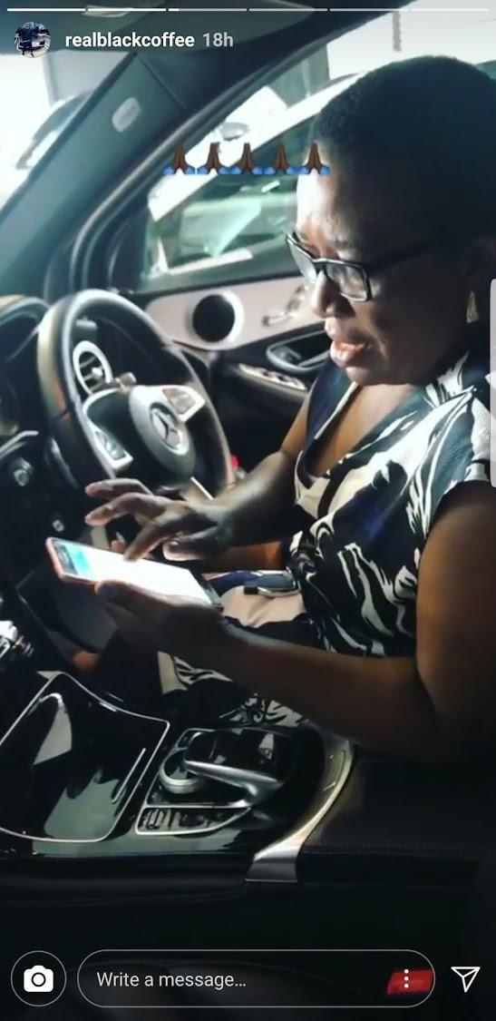 DJ Black Coffee bought his mom a car