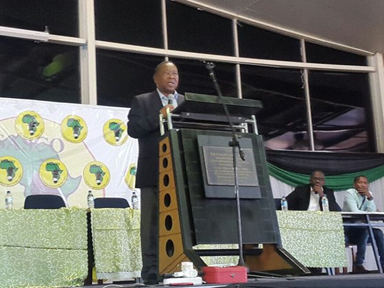 Higher Education Minister, Blade Nzimande speaks at MUT