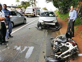 Bluff accident