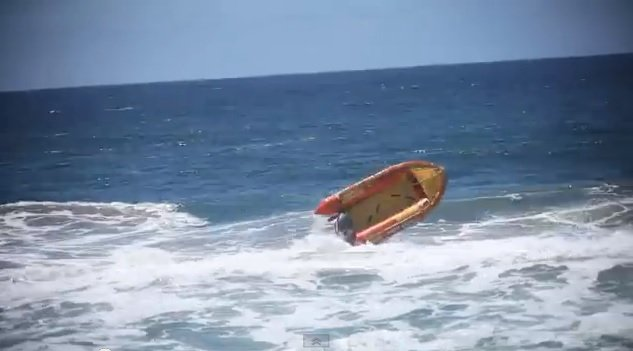 Lifeguards lose control of boat stuck in full throttle