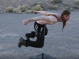 Body on spear