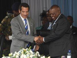 Mokgweetsi Masisi and Ian Khama