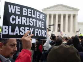 Protest against Supreme Court Justice nominee, Brett Kavanaugh
