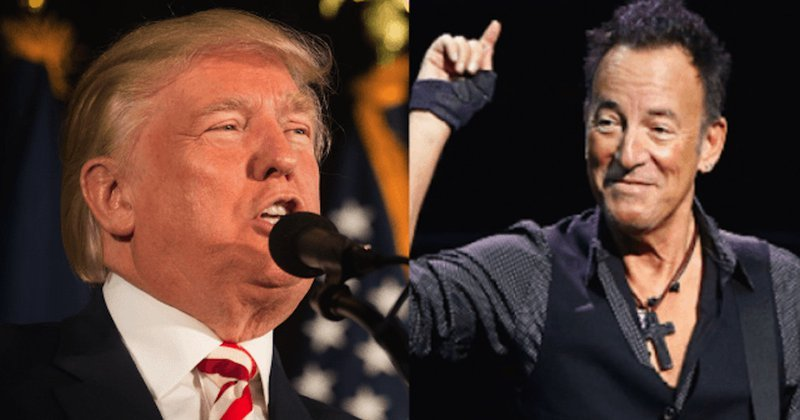bruce springsteen drags Trump