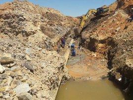 Joburg burst water pipe
