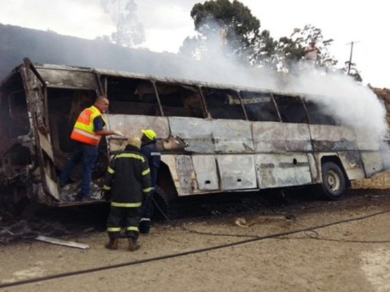 BUS FIRE - ARRIVE ALIVE