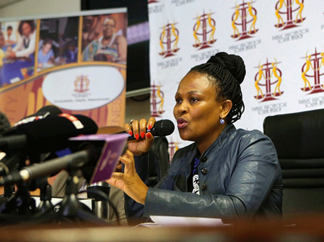 Timing of Mkhwebane's report into Gordhan questioned