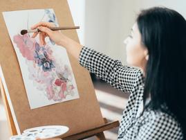 Woman painting art