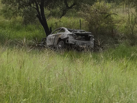 burnt out car limpopo