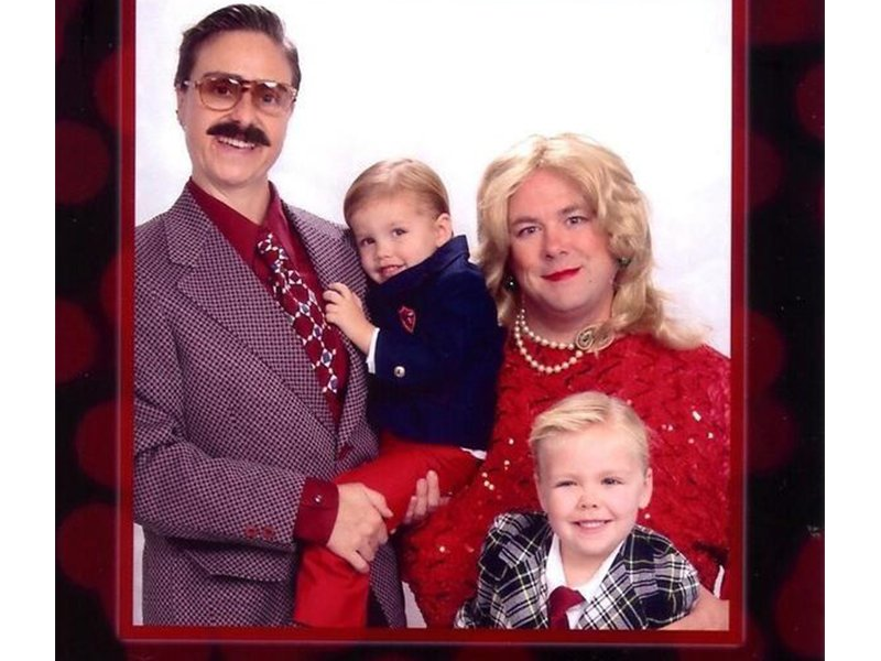 13 years of awkward family greeting cards - Family Photo Christmas Cards