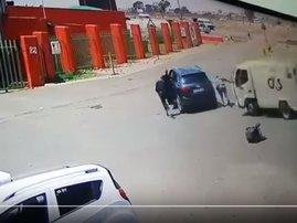 cash-in-transit security uses van as weapon