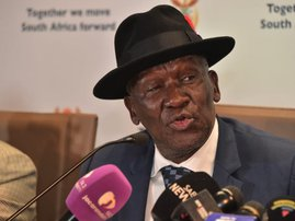 Bheki Cele police minister speaking about 'spotters'