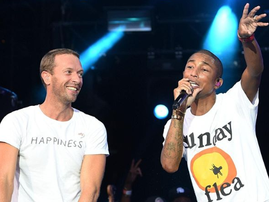 Chris Martin and Pharrell Williams