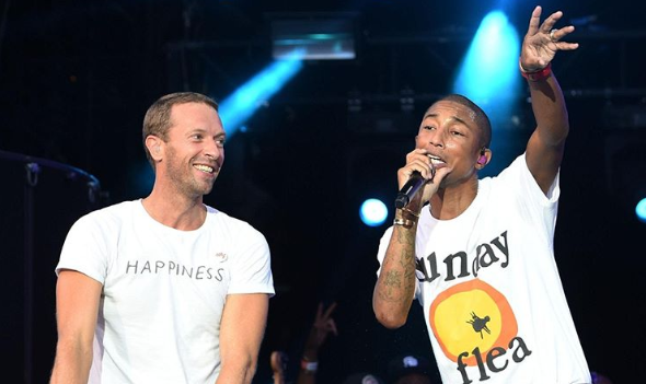 Chris Martin and Pharrell Williams