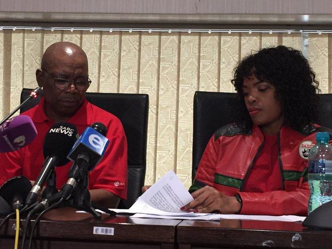 Zingiswa Losi and Bheki Ntshalintshali on finance minister