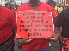 Cosatu March ( National Cosatu March) in Durban